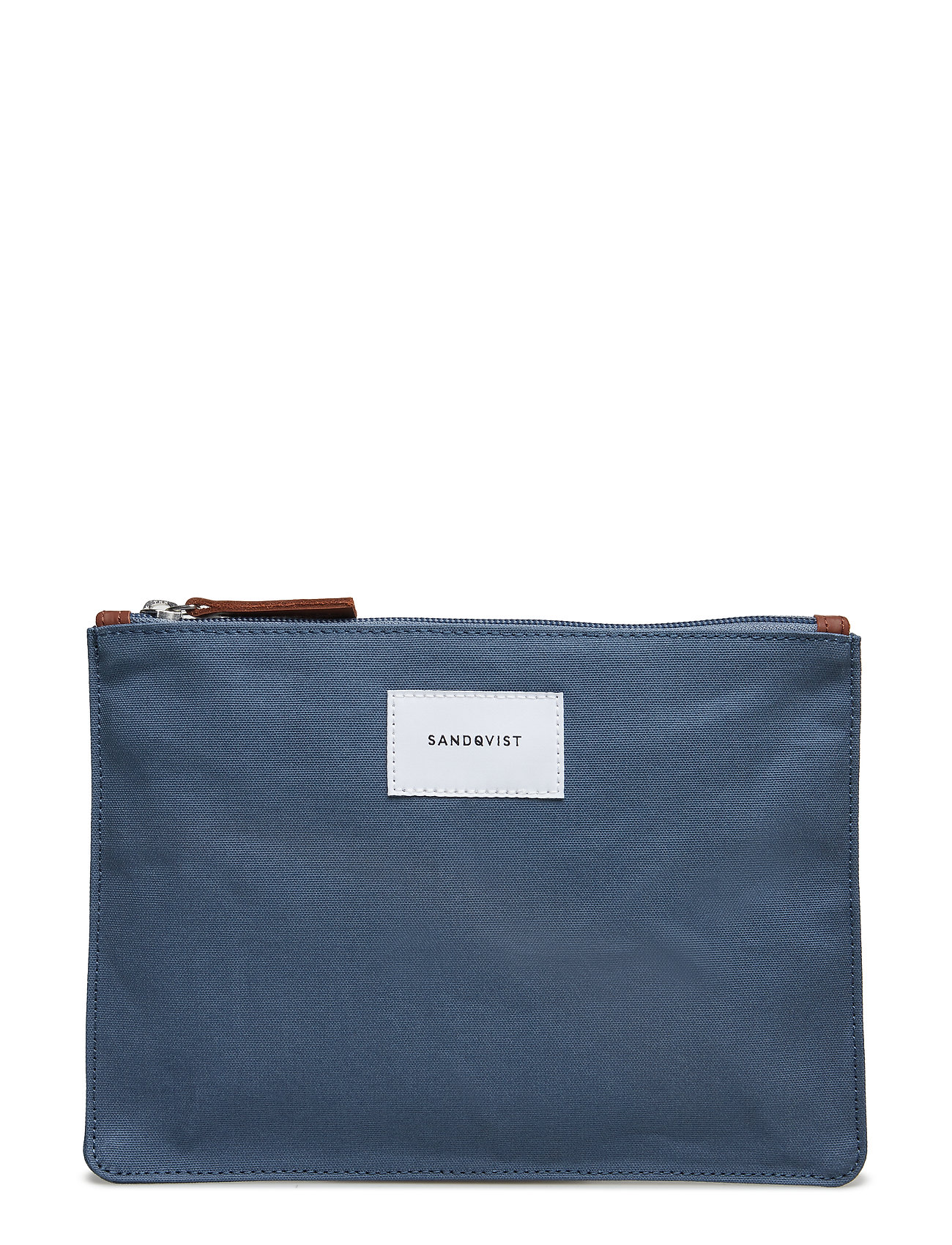 SANDQVIST TURE M - DUSTY BLUE WITH COGNAC BROWN LEATHER
