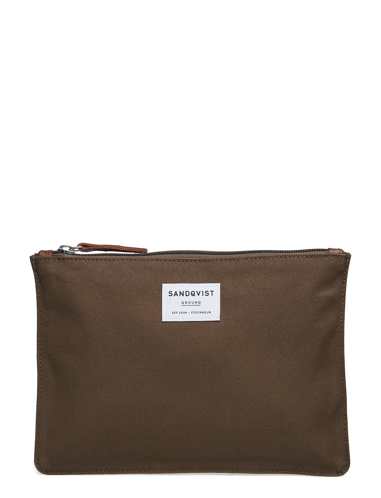 SANDQVIST TURE M - OLIVE WITH COGNAC BROWN LEATHER