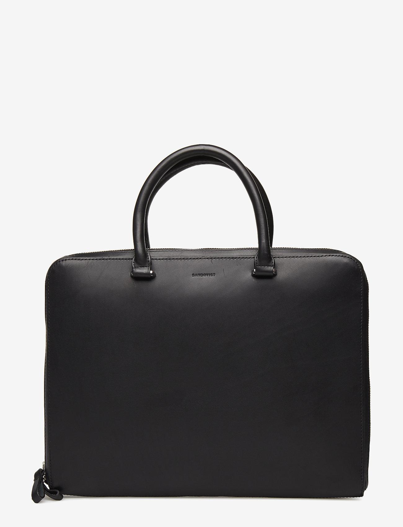 SANDQVIST - MYRTEL - laptop-väskor - black - 1