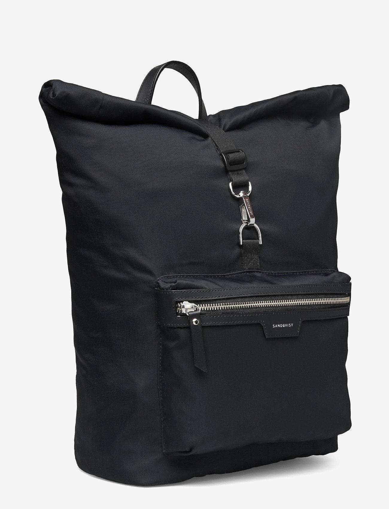 SANDQVIST - SIV - nieuwe mode - black with black leather - 3