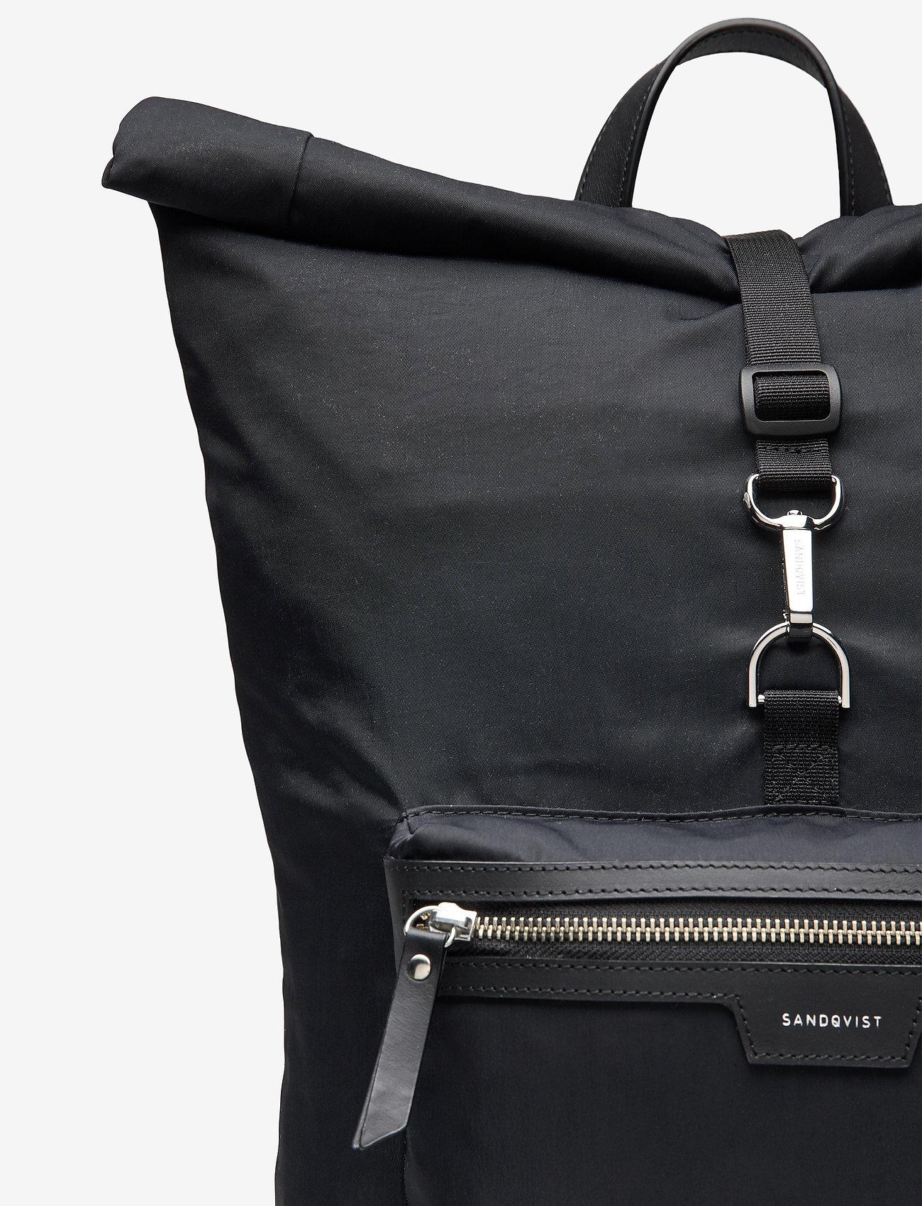 SANDQVIST - SIV - nieuwe mode - black with black leather - 4