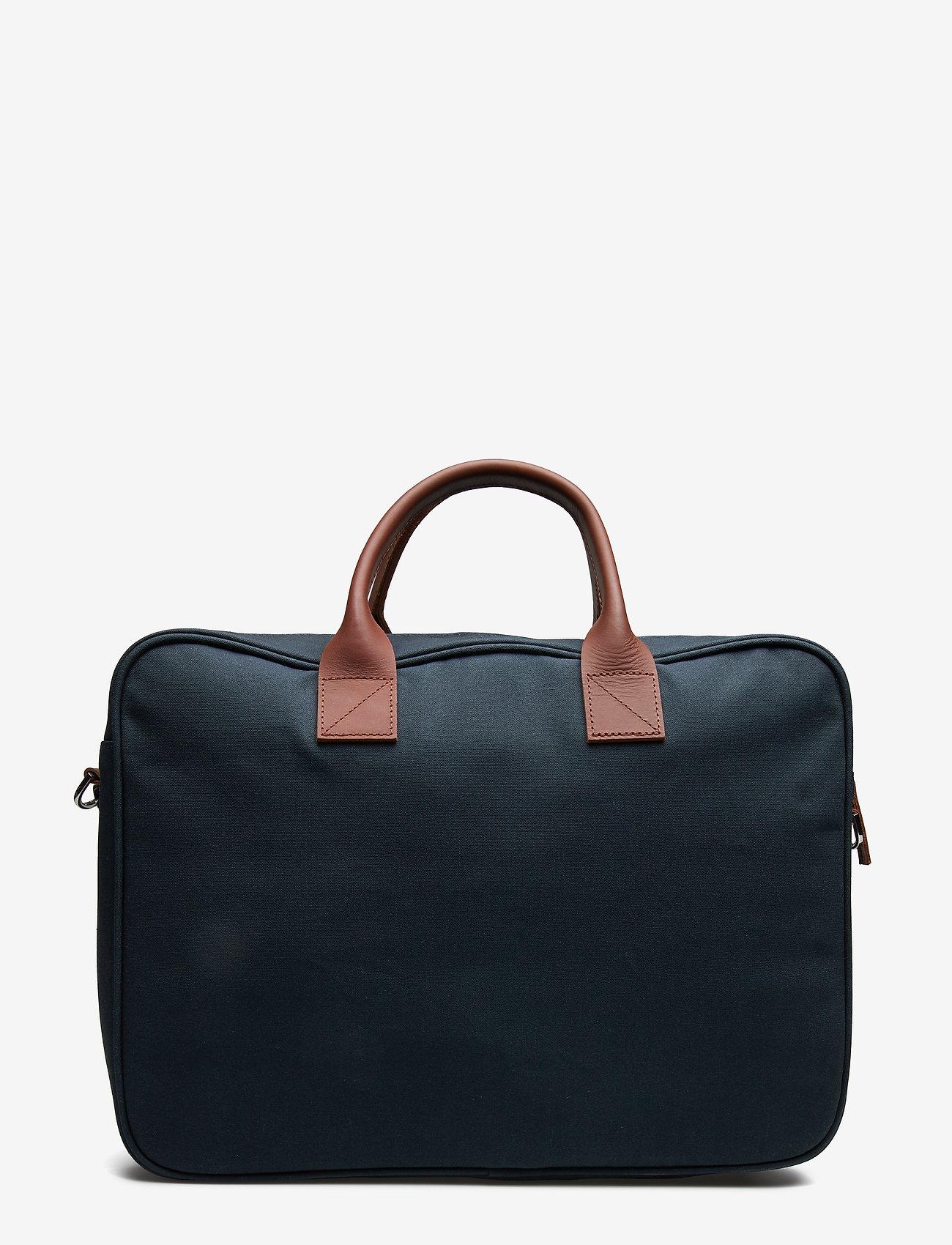 SANDQVIST - EMIL - navy with cognac brown leather - 2