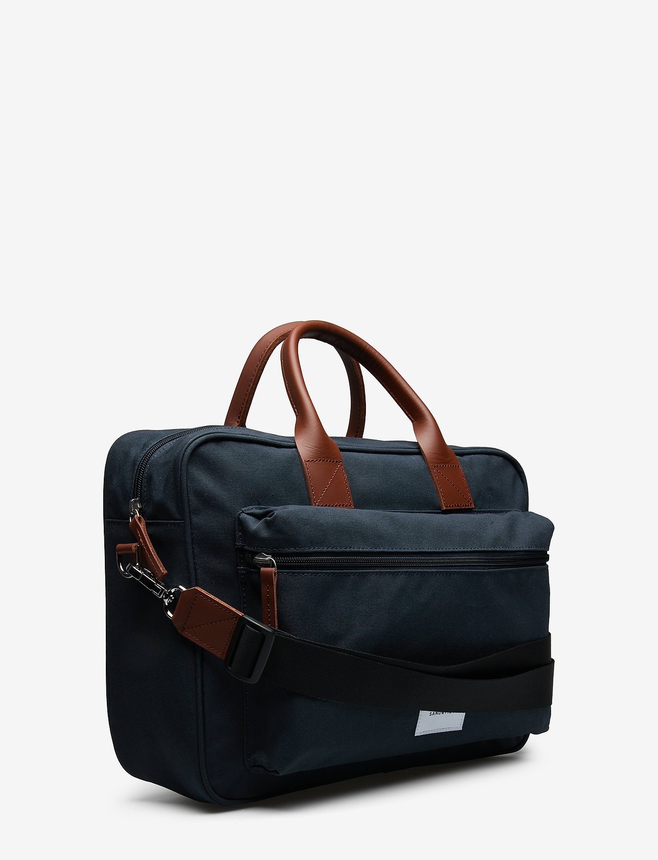 SANDQVIST - EMIL - navy with cognac brown leather - 3