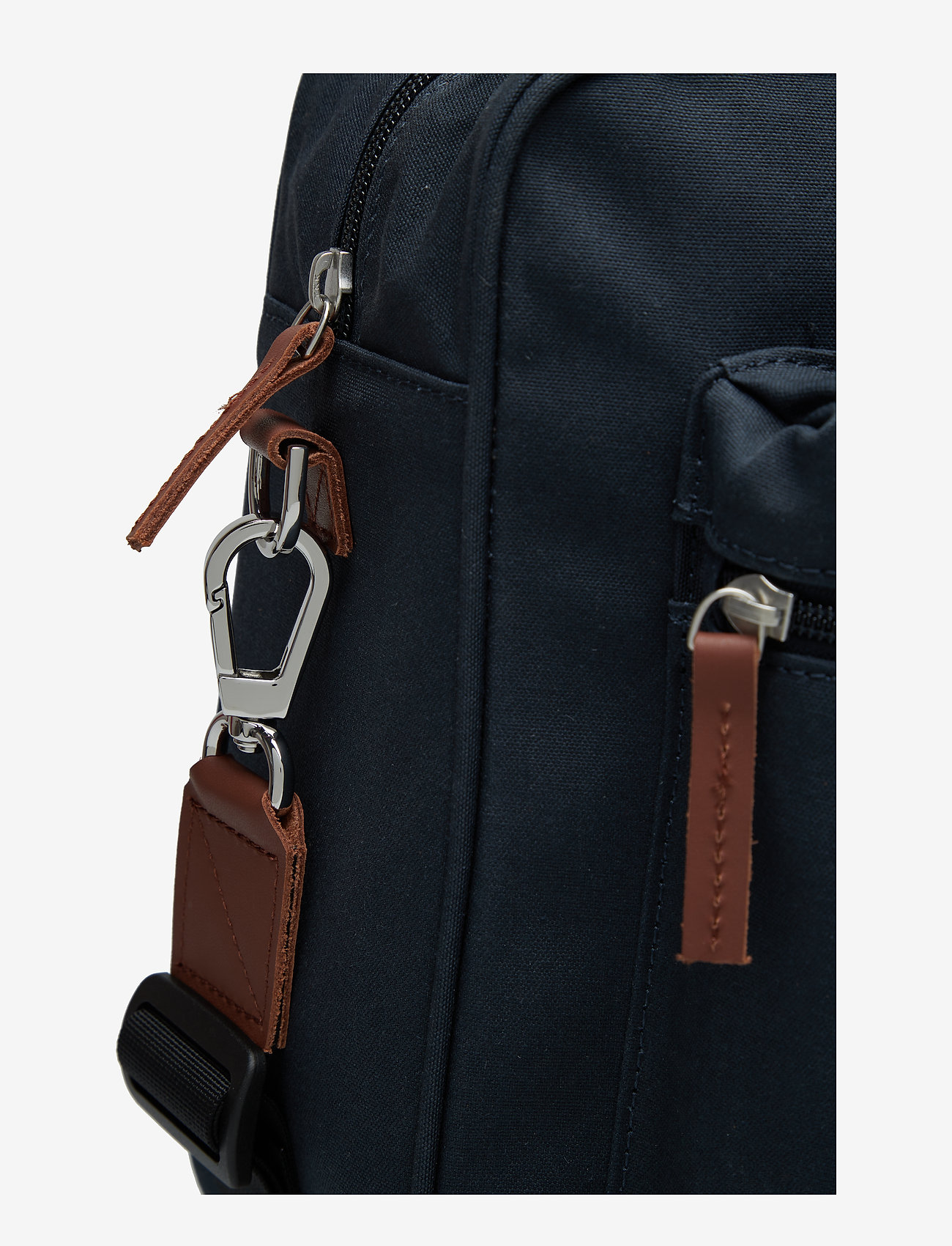 SANDQVIST - EMIL - navy with cognac brown leather - 5