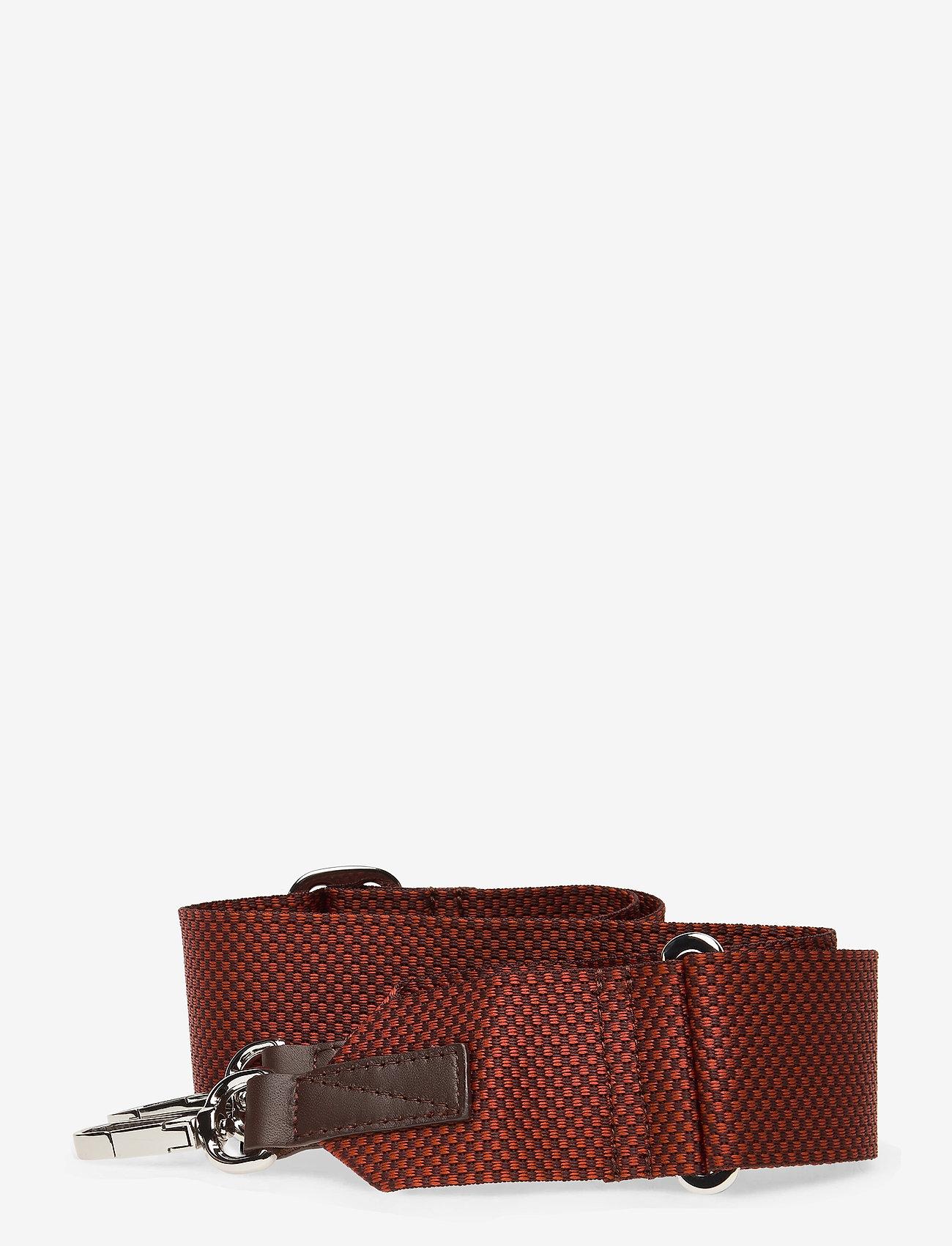 SANDQVIST - ADJUSTABLE SHOULDER STRAP - laukun hihnat - red / brown melange with dark brown leather - 0