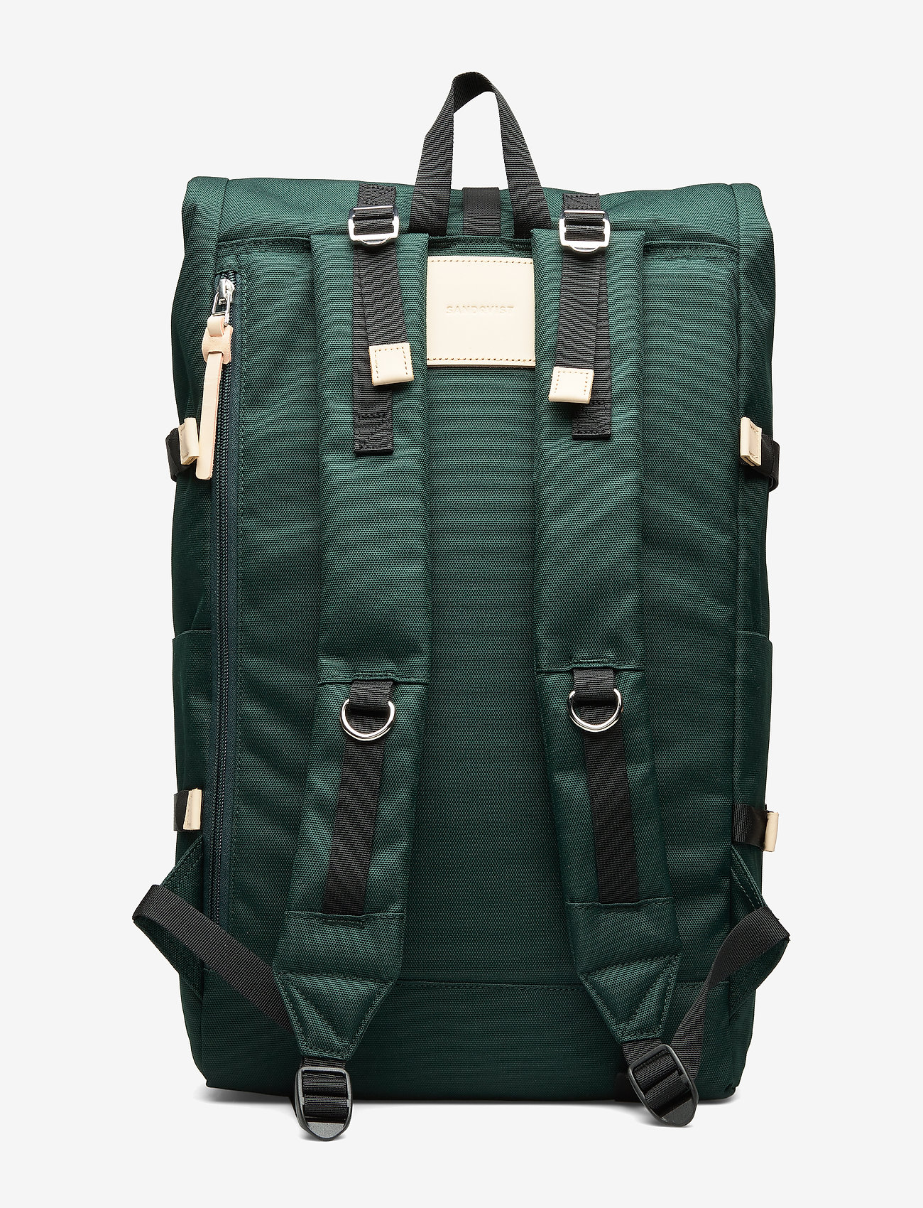 SANDQVIST - BERNT - nieuwe mode - dark green with natural leather - 2