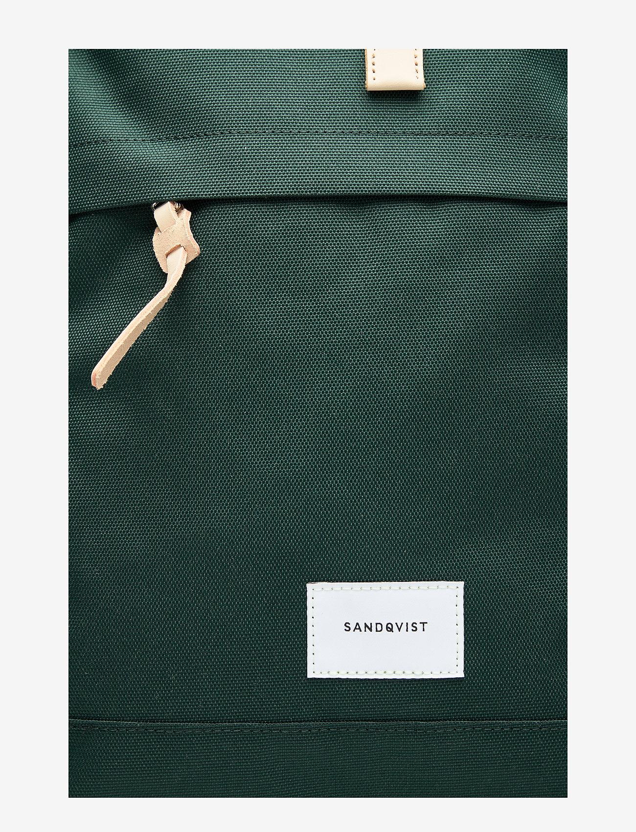 SANDQVIST - BERNT - nieuwe mode - dark green with natural leather - 5