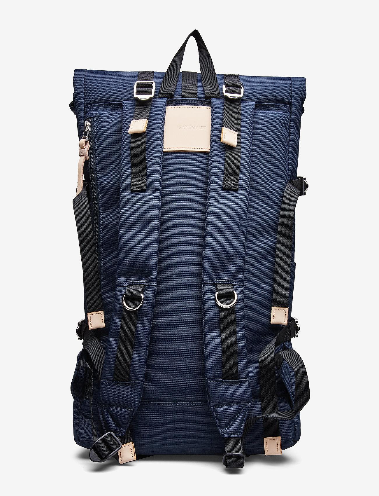 SANDQVIST - BERNT - tassen - navy with natural leather - 2