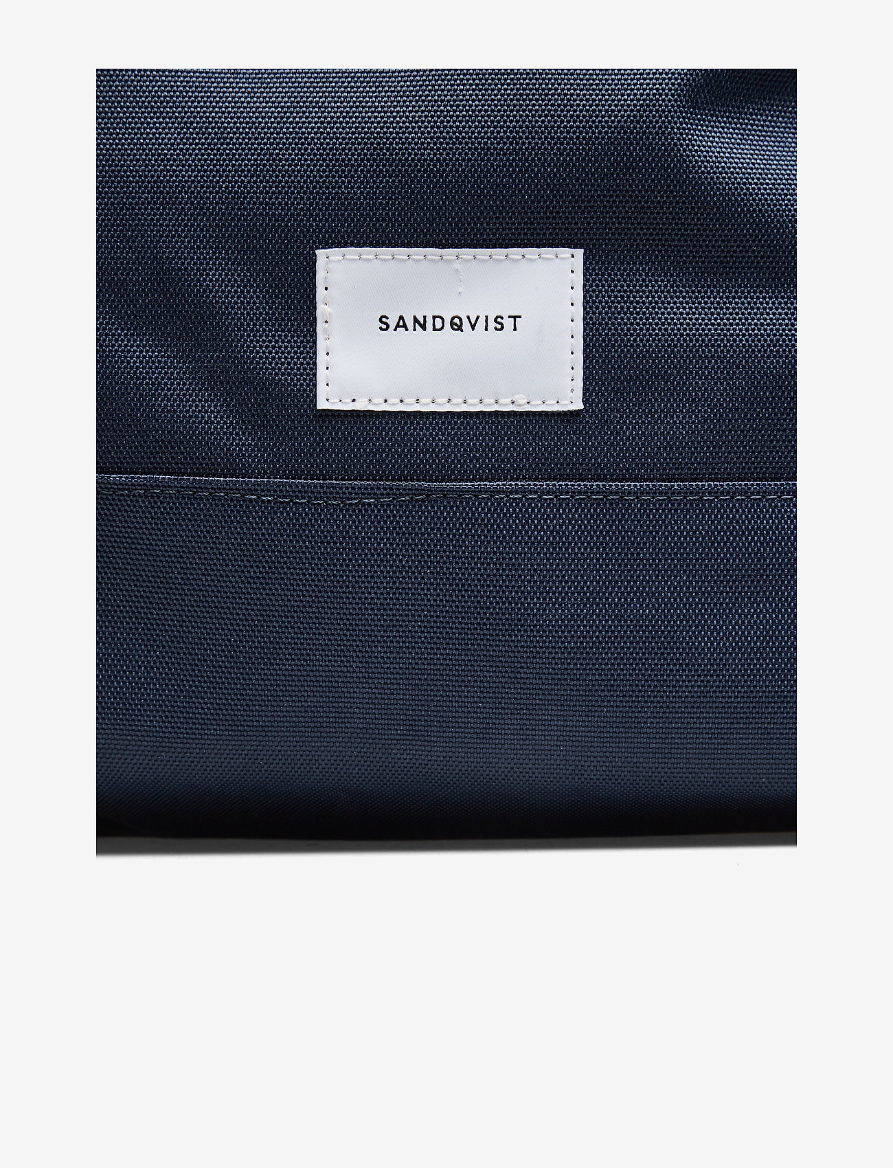 SANDQVIST - BERNT - tassen - navy with natural leather - 4