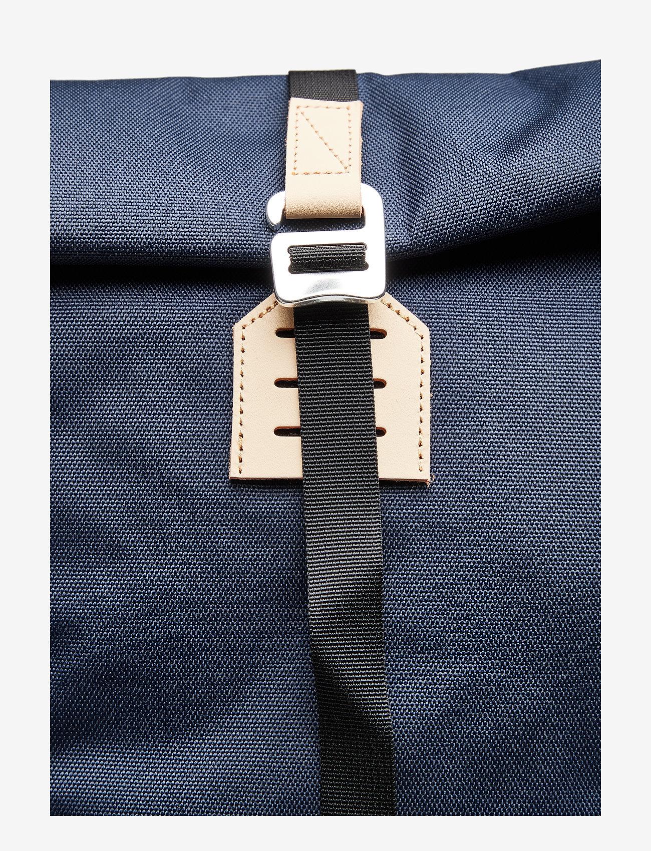 SANDQVIST - BERNT - tassen - navy with natural leather - 5