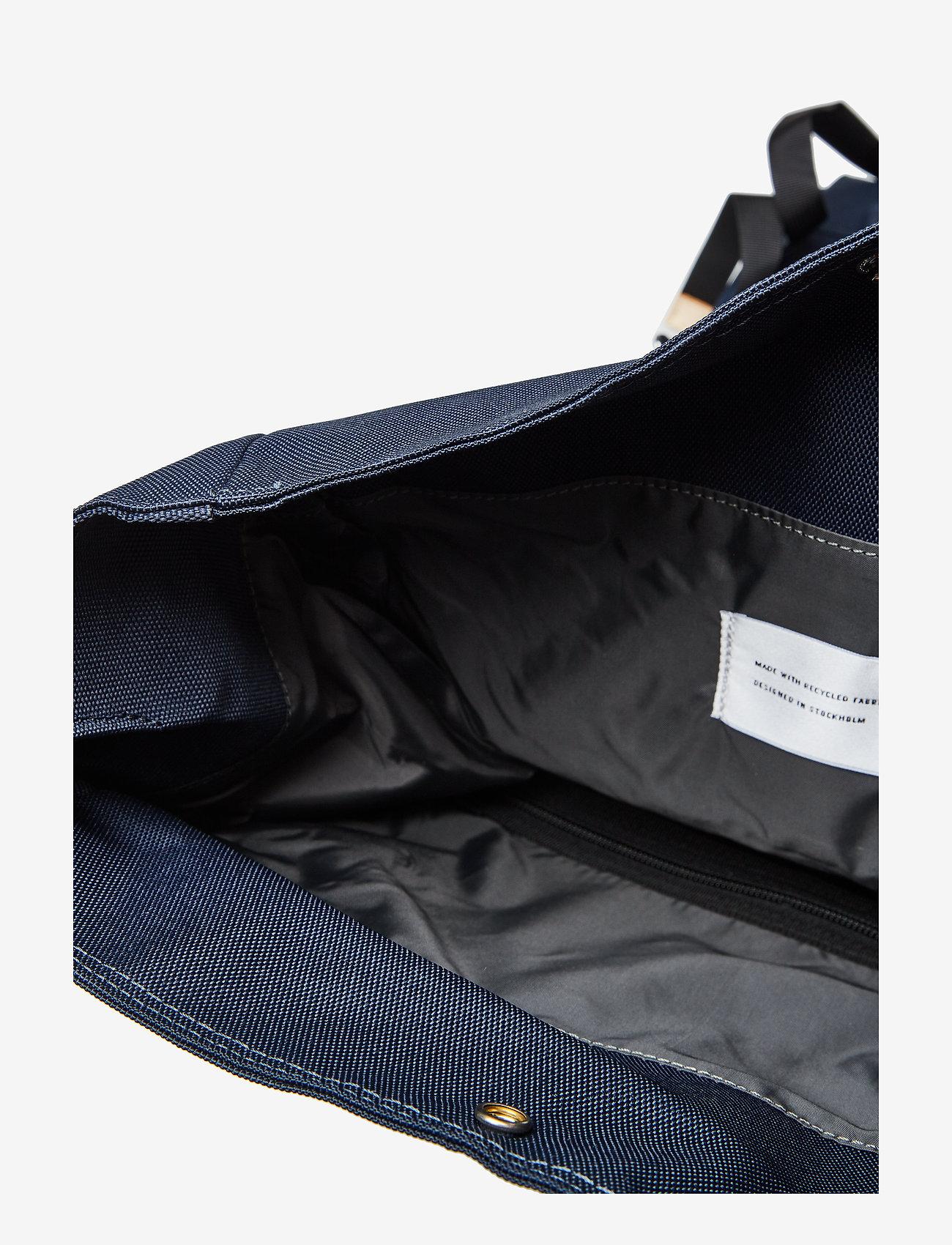 SANDQVIST - BERNT - tassen - navy with natural leather - 7