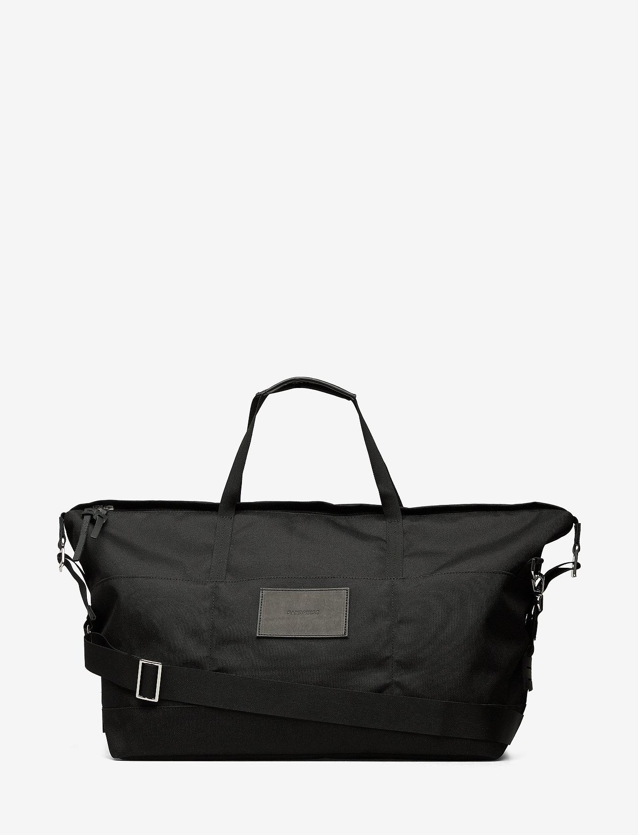 SANDQVIST - MILTON - treenikassit - black with black leather - 1