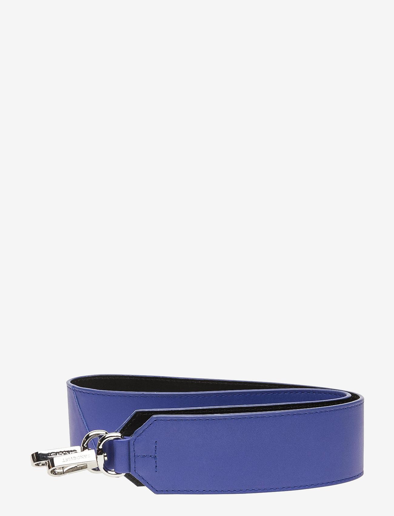SANDQVIST - SHOULDER STRAP LEATHER - laukun hihnat - bright blue / black - 0