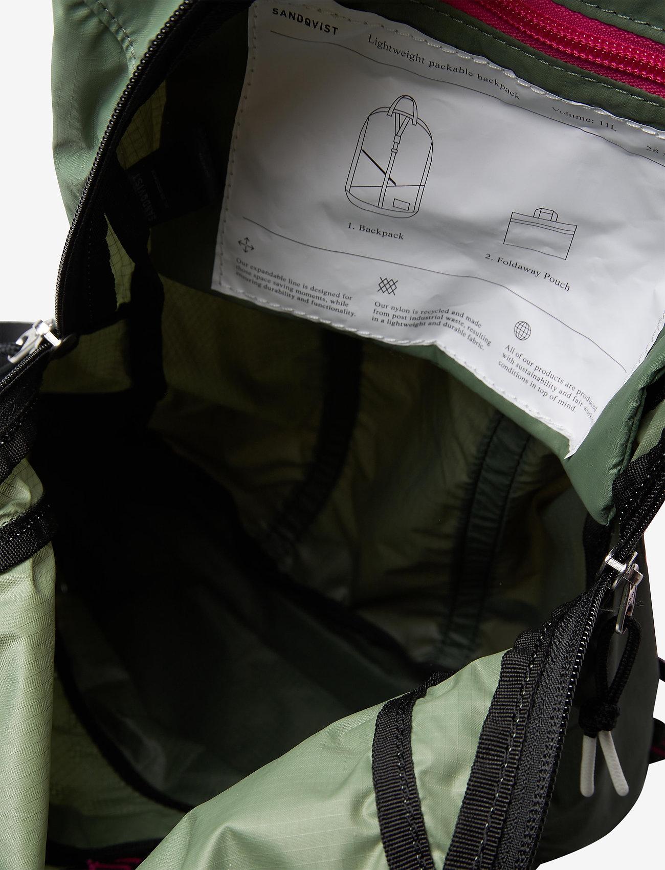 SANDQVIST - ERLAND LIGHTWEIGHT - bags - multi dusty green/night green - 4