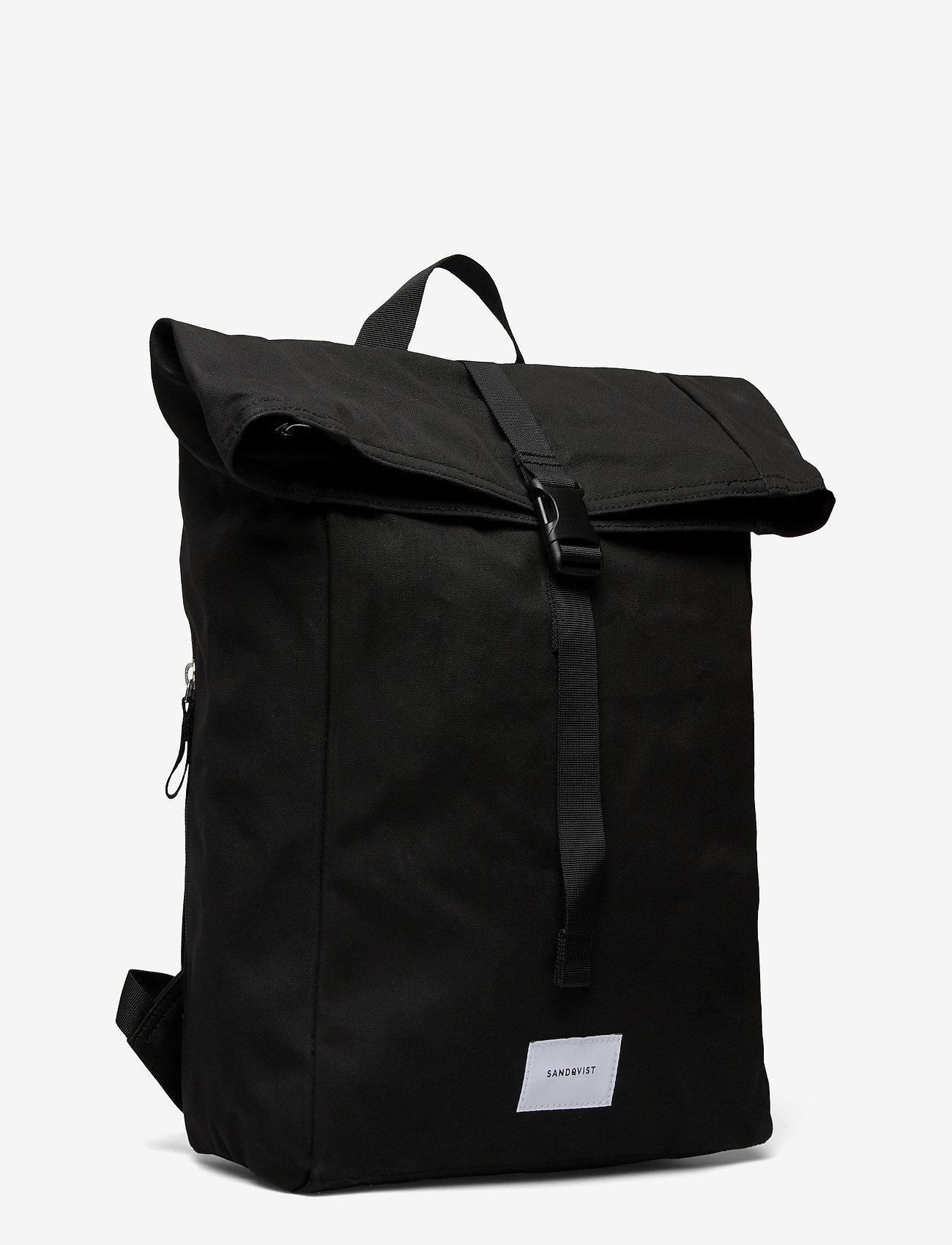 SANDQVIST - KAJ - bags - black with black webbing - 3