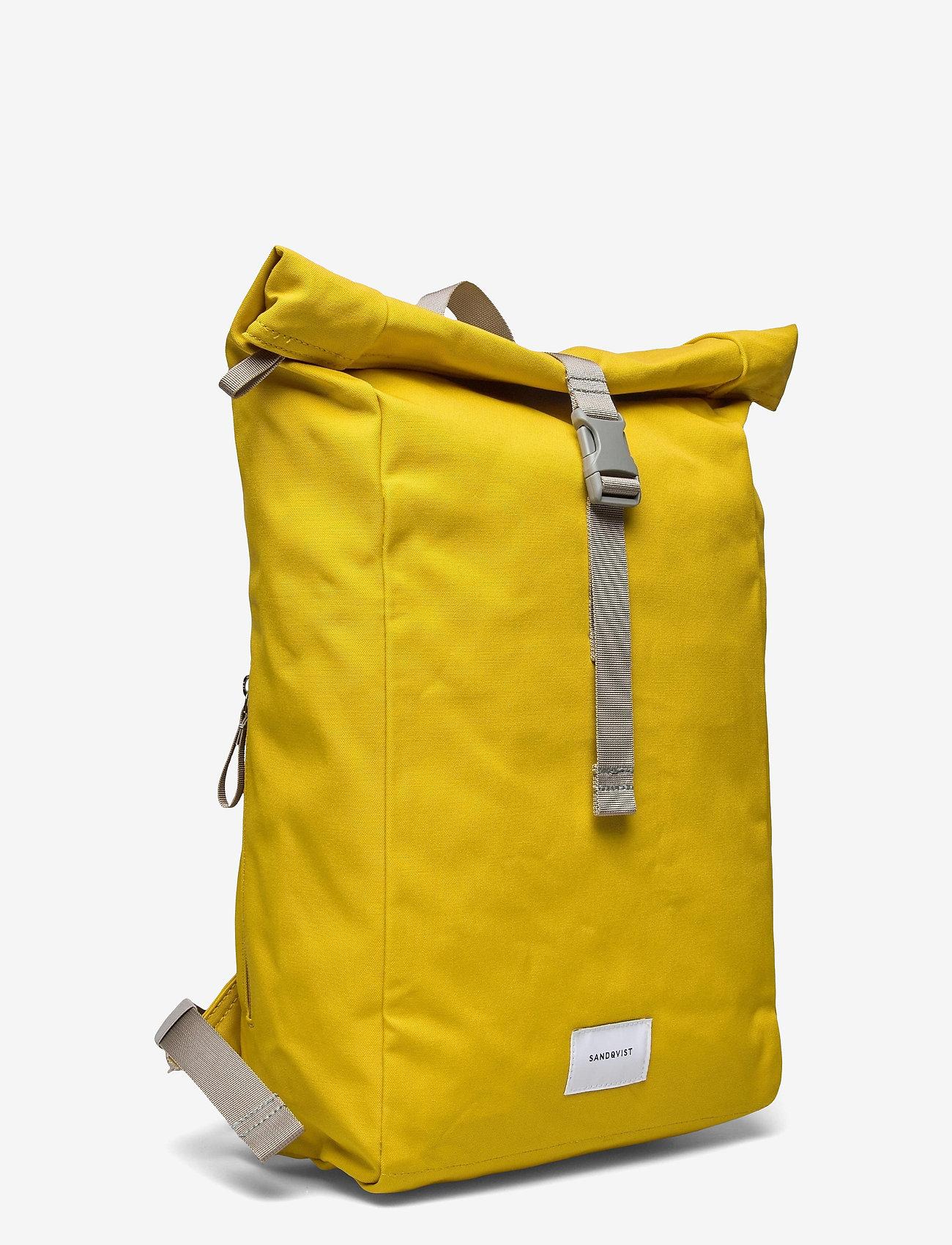 SANDQVIST - KAJ - bags - yellow with grey webbing - 2