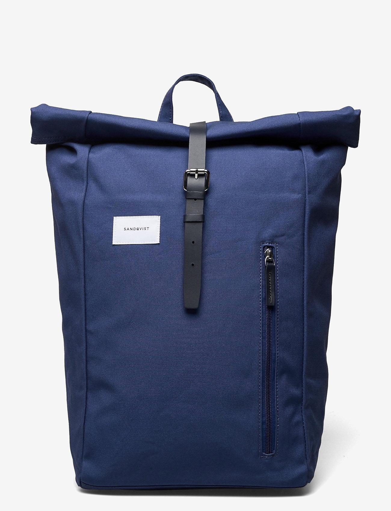 SANDQVIST - DANTE - sacs a dos - blue with blue leather - 0