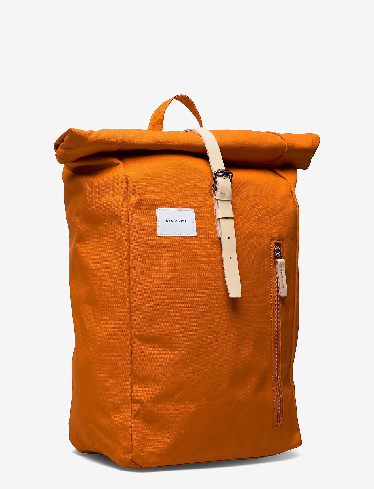 SANDQVIST - DANTE - tassen - burnt orange with natutal leather - 2