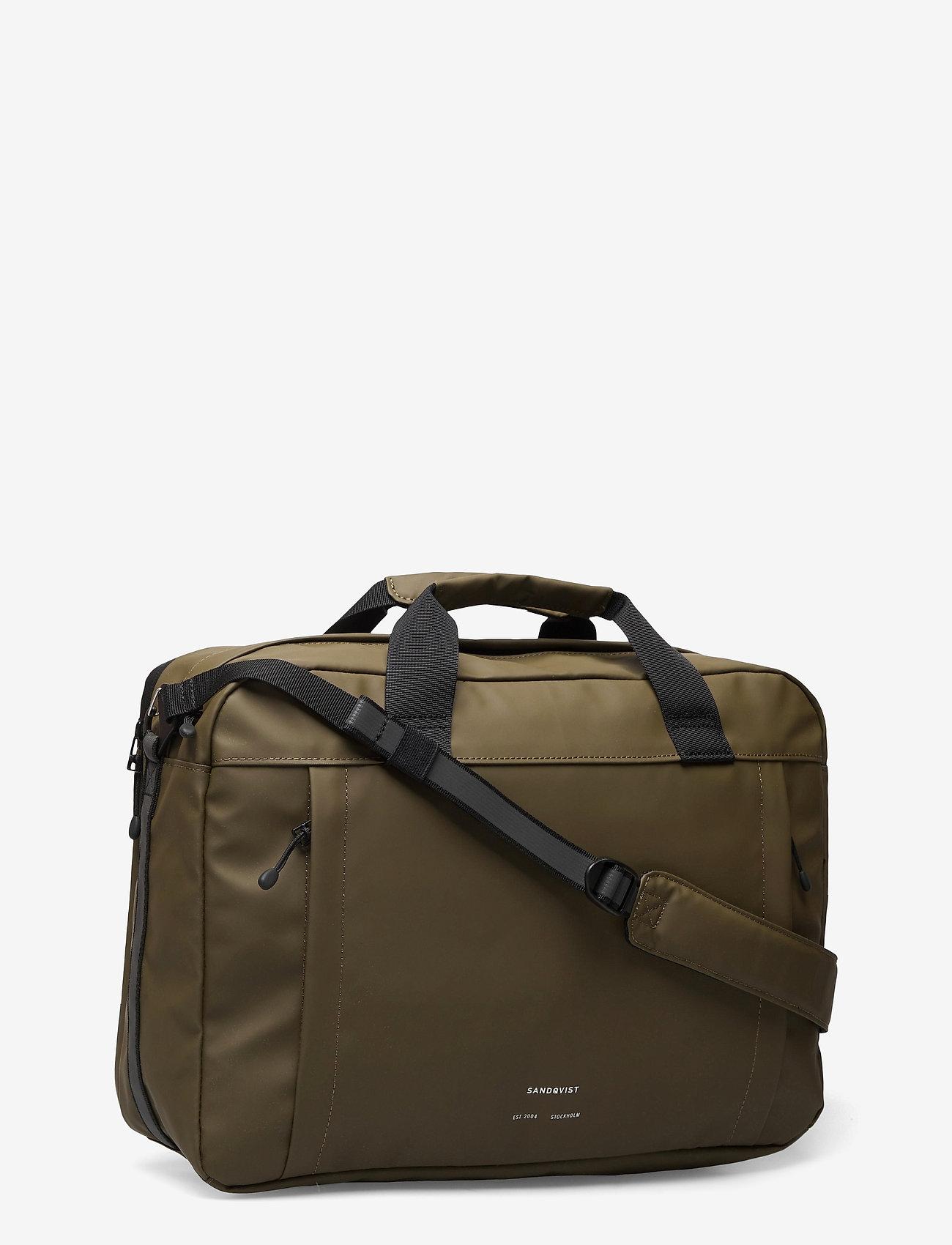 SANDQVIST - DAL - laptop-väskor - olive - 3