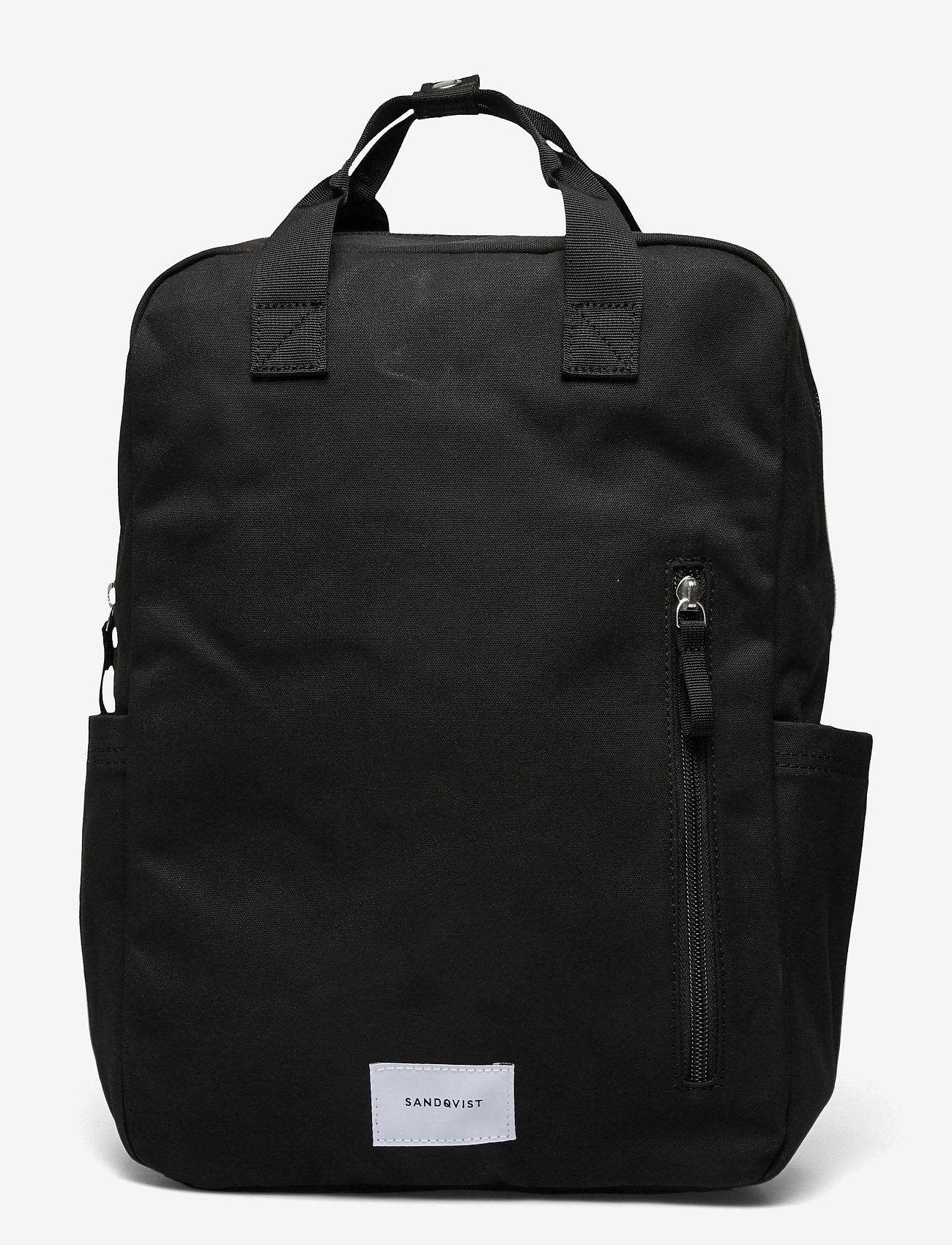 SANDQVIST - KNUT - tassen - black with black webbing - 1
