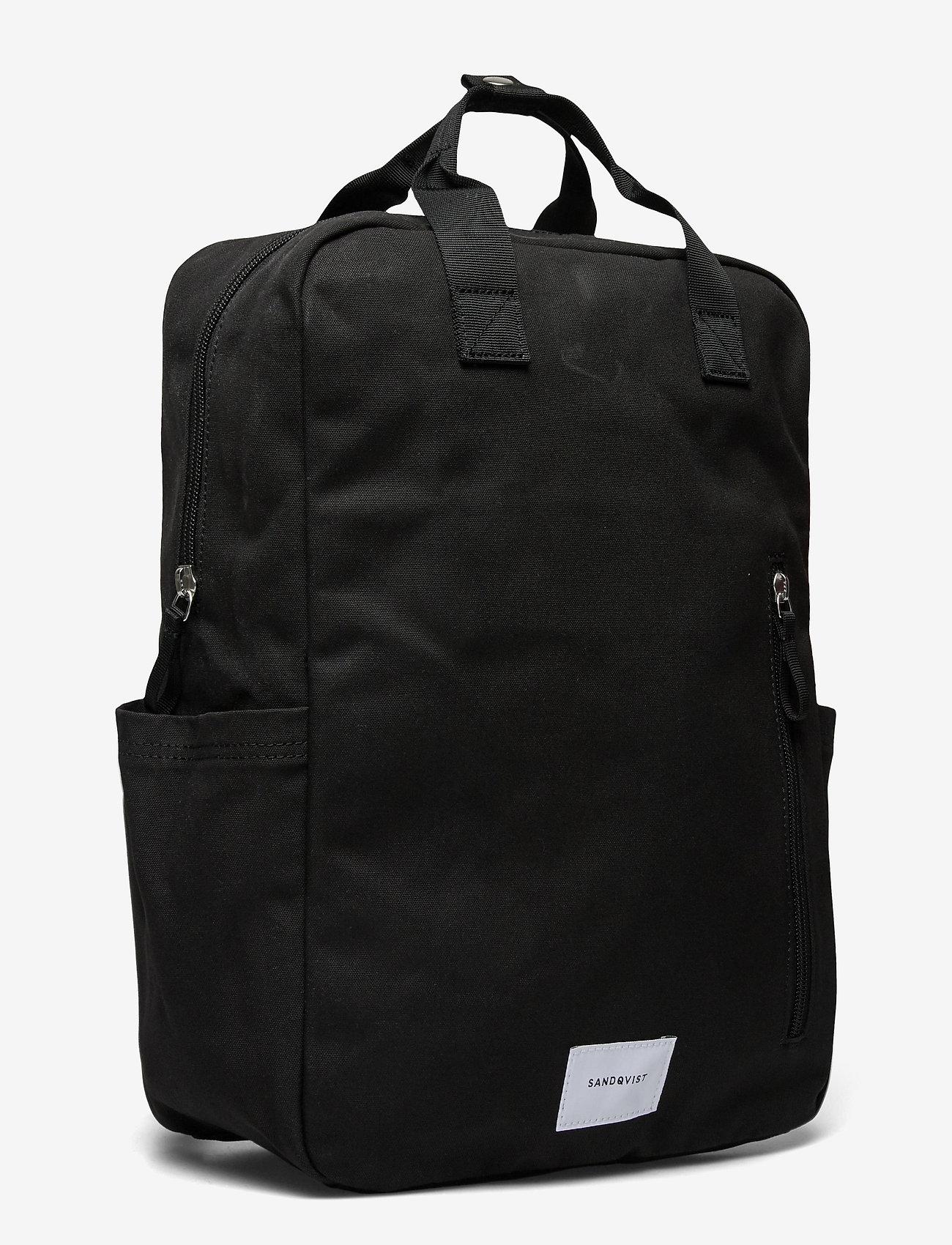 SANDQVIST - KNUT - tassen - black with black webbing - 3