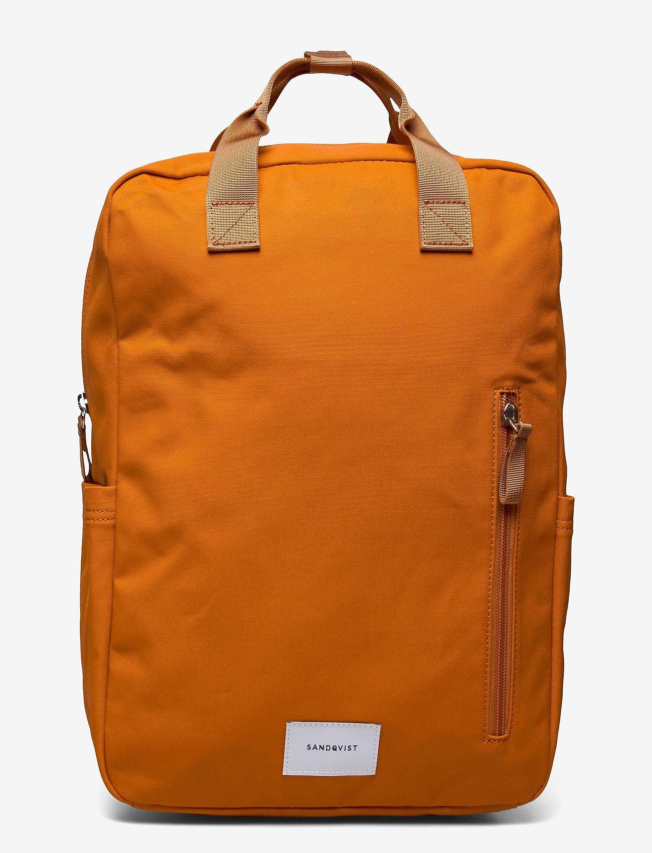 SANDQVIST - KNUT - tassen - burnt orange with orange webbing - 0