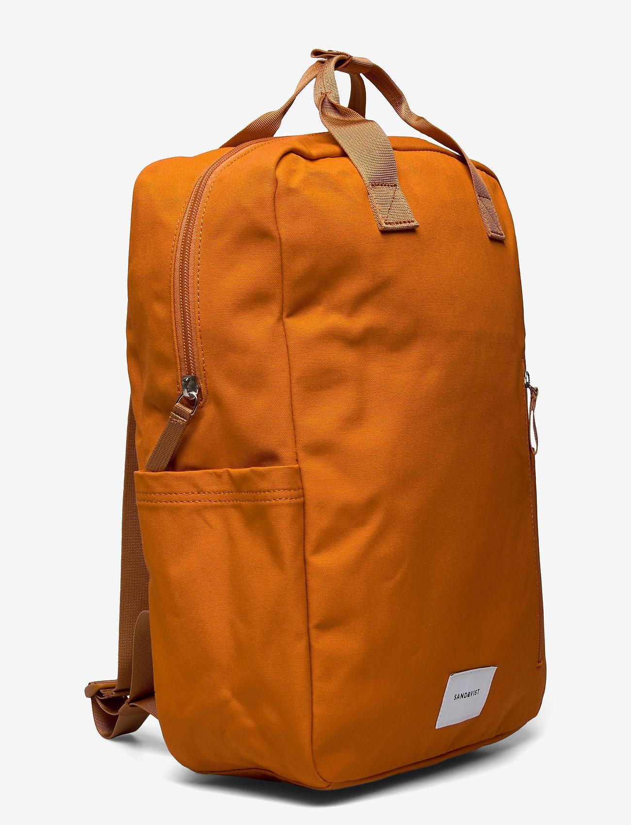 SANDQVIST - KNUT - tassen - burnt orange with orange webbing - 2