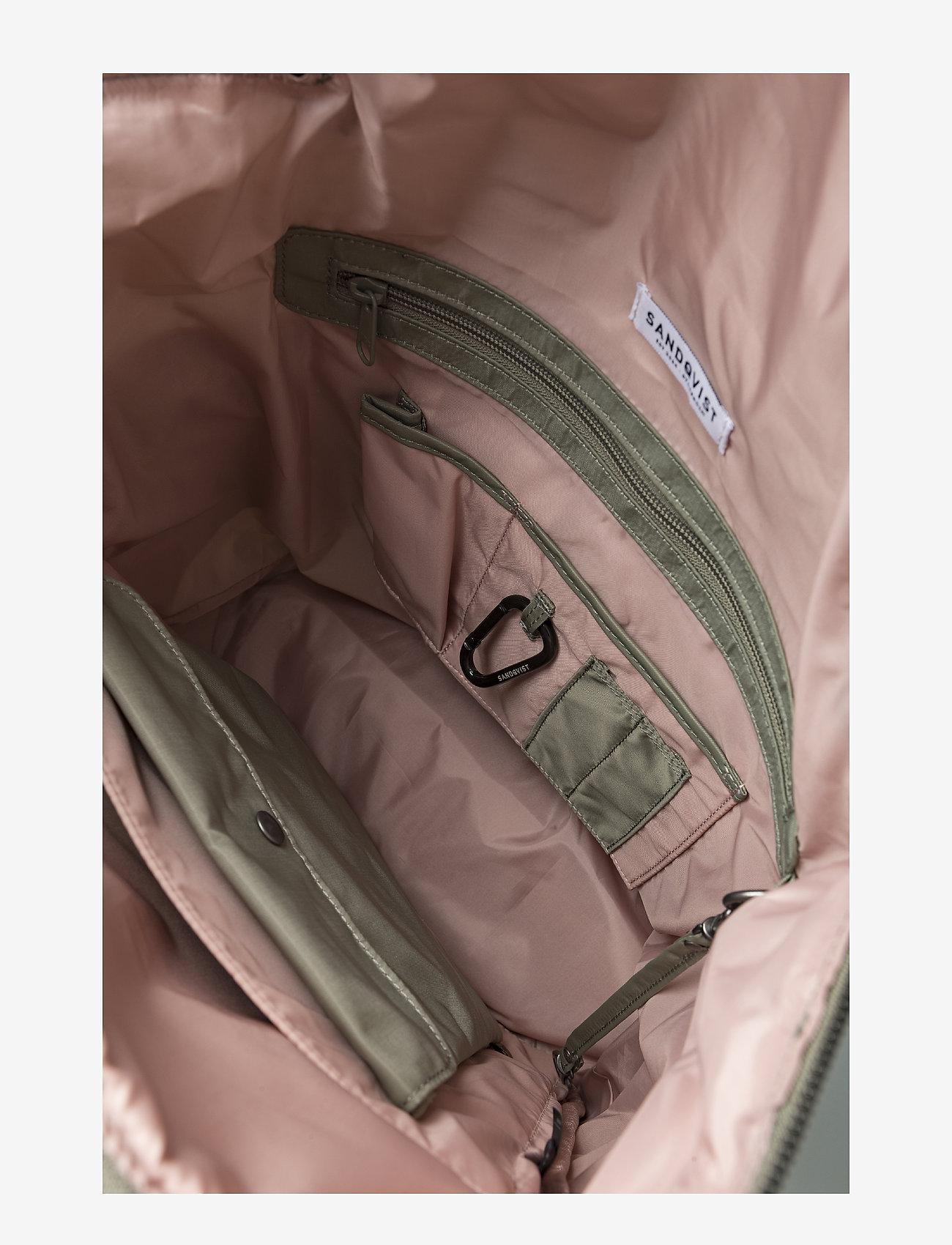 SANDQVIST UNO - Plecaki WILLOW GREEN - Torby