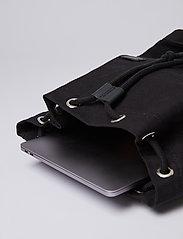 SANDQVIST - STIG LARGE - backpacks - black with black leather - 9