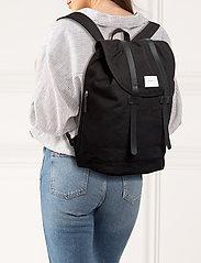 SANDQVIST - STIG LARGE - backpacks - black with black leather - 2