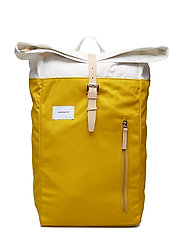 DANTE - MULTI YELLOW / OFF WHITE WITH NATURAL LEATHER