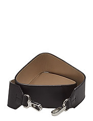 SHOULDER STRAP LEATHER - BLACK/BEIGE