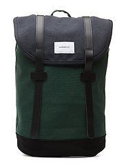 STIG - MULTI BLUE / FOREST GREEN / BLACK WITH BLACK LEATHER