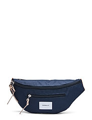 ASTE - NAVY WITH NATURAL LEATHER