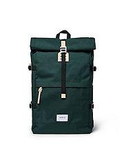 SANDQVIST - BERNT - nieuwe mode - dark green with natural leather - 0