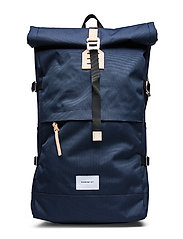 BERNT - NAVY WITH NATURAL LEATHER
