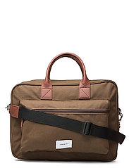 EMIL - OLIVE WITH COGNAC BROWN LEATHER