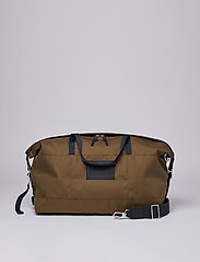 SANDQVIST - MILTON - matkalaukut - olive with black leather - 6