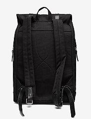 SANDQVIST - STIG LARGE - backpacks - black with black leather - 3