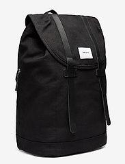 SANDQVIST - STIG LARGE - backpacks - black with black leather - 4