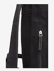 SANDQVIST - STIG LARGE - backpacks - black with black leather - 6