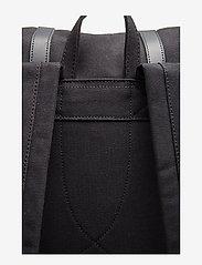 SANDQVIST - STIG LARGE - backpacks - black with black leather - 7