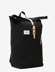 SANDQVIST - DANTE - backpacks - black with natural leather - 2