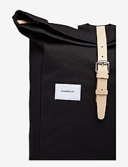 SANDQVIST - DANTE - backpacks - black with natural leather - 5
