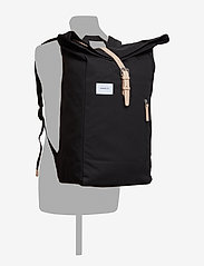SANDQVIST - DANTE - backpacks - black with natural leather - 4