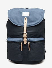 SANDQVIST - ROALD - backpacks - multi blue / dusty blue with natural leather - 0