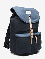 SANDQVIST - ROALD - backpacks - multi blue / dusty blue with natural leather - 2