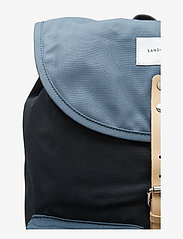 SANDQVIST - ROALD - backpacks - multi blue / dusty blue with natural leather - 3