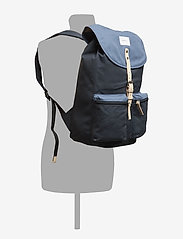SANDQVIST - ROALD - backpacks - multi blue / dusty blue with natural leather - 5