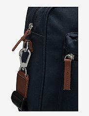 SANDQVIST - EMIL - laptoptassen - navy with cognac brown leather - 5